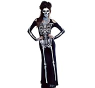 Cosplay Costumes / Party Costume Ghost / Zombie Festival/Holiday Halloween Costumes White / Black / Gray Vintage ZentaiHalloween /