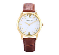 REBIRTH® Women's Watch Simple Fashion PU Leather Strap Quartz Wrist Watch