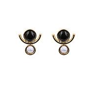 Fashion Women Geometric Resin Stone Set Stud Earrings
