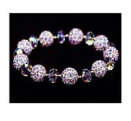 Strand Bracelets 1pc,White Bracelet Vintage Circle 514 Crystal Jewellery