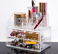 Хранение косметики Коробка с косметикой / Хранение косметики Пластик / Акрил Однотонный 18.5*10*15.5 cm Бисквитный