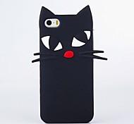 Ganzkörper Stoßfest Katze Silikon Weich Cartoo,Black Cat, Fall-Abdeckung für Apple iPhone 6s Plus/6 Plus / iPhone 6s/6 / iPhone SE/5s/5