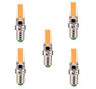 5W E14 Luces LED de Doble Pin T 1 COB 400-500 lm Blanco Cálido / Blanco Fresco Regulable / Decorativa AC 100-240 / AC 110-130 V 5 piezas