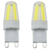 2PCS G9 4LED COB 3W 300-350LM Warm White/Cool White/Natural White Dimmable / Decorative