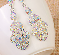 Drop Earring Jewelry 1 pair Fashionable Rhinestone White Daily / Casual