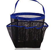 8 Mesh Grid Bathroom Hanging Storage Bag Wash Bag