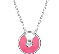 Fashion jewelry pendant necklaces 925 silver necklace crystal turquoise for women Wedding PN612