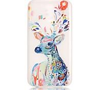 Water Color Deer Pattern Relief Glow in the Dark TPU Phone Case for Motorola Moto G4 Play / G 4