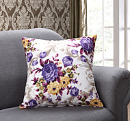 1 PC Country Style PP Cotton Pillow with Insert 17 by 17 inch Floral Pattern
