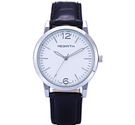 REBIRTH Brand Women's Simple Fashion PU Leather Strap Quartz Wrist Watch