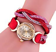 mode pu quartz casual montre bracelet des femmes