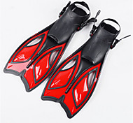 Diving Fins Waterproof / Protective Diving / Snorkeling Rubber Red / Yellow / Blue