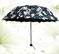Bleu Ombrelle pliable Ensoleillé et Rainy Textile Voyage / Lady / Hommes