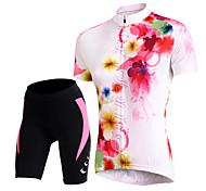 TASDAN Bike/Cycling Arm Warmers / Jersey + Shorts / Shorts / Jersey / Padded Shorts / Tops Women's Short SleeveBreathable / Quick Dry /