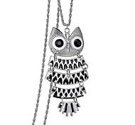 Fashion Retro Alloy Oil Owl Pendant Necklace