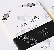 Original Design In Black And White Plumage Sub Notebook Diary Pda