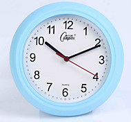 (Random Color)12 Inches Fashionable Sitting Room Bedroom Office Mute Supe Contracted Quartz Clock