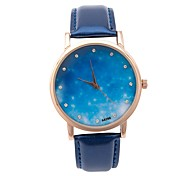 Ladies' Fahion Star and Sky Pattern Rhinestone Elegant Wrist Quartz Watch