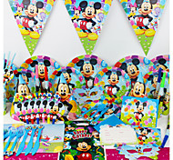 Luxury Mickey Mouse 78pcs Birthday Party Decorations Kids Evnent Party Supplies Party Decoration 6 People use