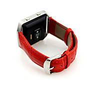 Luxury Crocodile Genuine Leather Strap Bracelet Replacement Watch Band for Fitbit Blaze