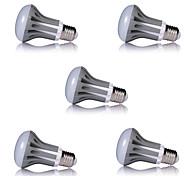 5pcs R63 7W E27 600LM Lampada LED Light Bulbs Energy Saving Bombillas LED Lamps (AC185-265V)