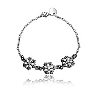 2016 Snowflake 925 Sterling Silver Black Luxury Specially Bracelets For Women