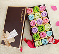 Creative Valentine'S Day Gift 18 Soap Flower Boxes Installed Colorful Roses Artificial Flowers Never Fade
