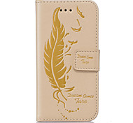 PU Leather Material Feather-Sided Embossed Pattern Mobile Phone Cases for Samsung Galaxy J5/J510