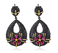 New Style Bohemian Vintage Black Gold Plated Drop Earrings Women Fashion Wedding Earring Accessories
