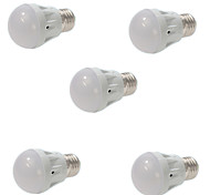 5pcs 5w e27 dimbaar 13x5730smd warm koel wit red light bulb lamp wereldbol (AC 220V)