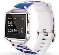 Bianco / Verde / Blu Silicone Style trends+Silicone material Cinturino sportivo Per Fitbit Orologio 23 millimetri
