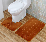 Casual Style Polyester Bath Rugs Set (2 Pieces)