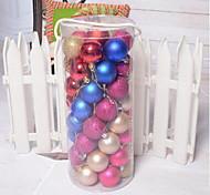 48 Mixed Christmas Ball Plating Ball Christmas Light Fittings Christmas Tree Ornaments Festive Supplies