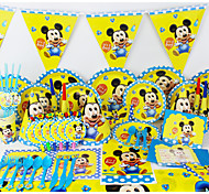 Luxury Micey Baby 78pcs Birthday Party Decorations Kids Evnent Party Supplies Party Decoration 6 People use