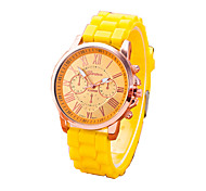 Women's Fashion Silicone Casual Quartz Watch