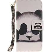 Panda PU Leather for iphone7 6Splus 6plus 6S 6 SE 5S 5