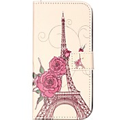 Shockproof / Flip Rose Tower PU Leather Soft Full Body Wallet Case Cover For Samsung Galaxy C5