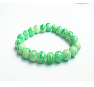 Women's Circle White/Black/Green  Glass Strand Bracelets 1Pc