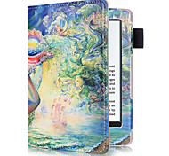 6 Inch Printing Pattern PU Leather Case with Sleep for New Kindle (Kindle 558) (Assorted Colors)