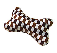 Cat / Dog Pet Toys Chew Toy Bone Brown Velvet