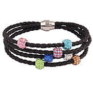 Crystal Bead Strand Wrap Bracelet