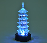 Creative Color-Changing Acrylic Romantic Pagoda Sweet Couple Night Light Christmas Light Home Decoration