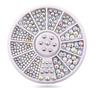 Mix Sizes Semi-circle Flatback Glitter Nail Rhinestone Studs Wheel Set Hot DIY Nail Sticker Decoration