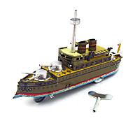 The Warship Wind-up Toy Leisure Hobby Metal Black / Khaki For Kids