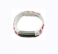 Smart Strap Bracelet Colorful Printing Silicone Bracelet For Fitbit Alta(09)