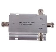 3-полосная п женский делитель мощности сплиттер 800-2500MHz для мобильного телефона усилитель сигнала ретранслятора