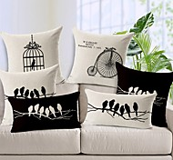 1 PC Casual Style Linen Pillow Case 17 by 17 inch Cartoon Pattern