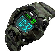 SKMEI® Unisex Fashion Sport LCD Digital Music Alarm Waterproof Rubber Talking Watch