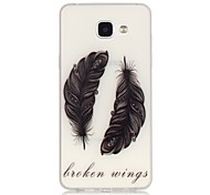 Feather Pattern TPU Material Glow in the Dark Soft Phone Case for Samsung Galaxy A310 A510(2016)