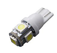 20 piezas se enfríen t10 blanco cuña 5-SMD 5050 192 168 194 W5W 158 2825 bombillas de luz LED